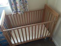 Cosatto adjustable side sleeping cot