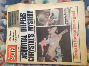 The first Edmonton sun April 1978