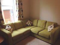 Green corner sofa - superb condition