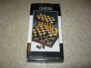 "Wood Chess Set. Magnetic. 10 3/4x 10 3/4"" Board. 2 1/4 King."