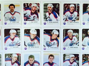 1986-87 EDMONTON OILERS RED ROOSTER HOCKEY CARDS X28 GRETZKY London Ontario image 2