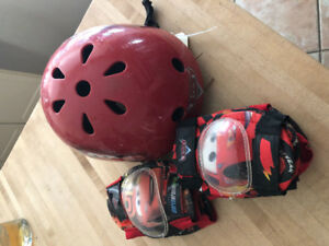 Kids bike helmet and gear