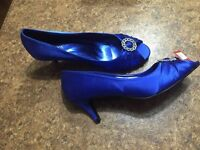 Royal Blue Satin Shoes