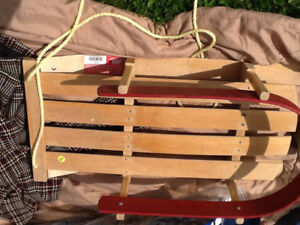 Wooden child's sled