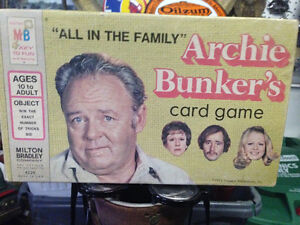 1972 ARCHIE BUNKER'S CARD GAME COMPLETE - PARKER PICKERS -