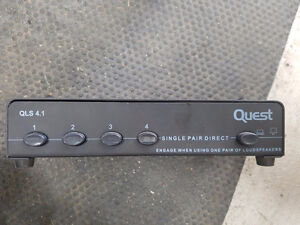 Quest QLS4.1 100 Watt Speaker Switch-Black, Single