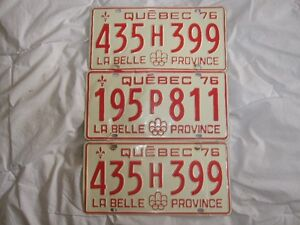 1976 Montreal Olympics logoed car licence plates set of 3