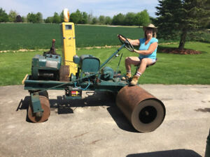 Homemade Antique Lawn Roller