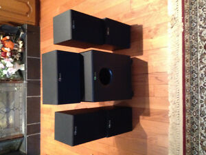 Nuance speaker set and a  subwoofer