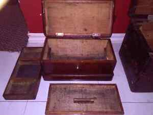 Antique wooden chests