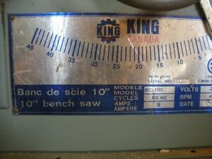 10 inch table saw .