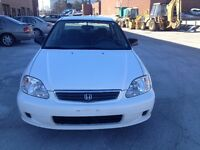 1999 Honda Civic Sedan very low km only 81500 certified $2200