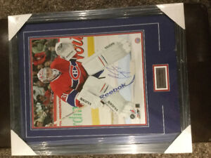 Autographed 2010 Carey Price framed photo