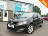 2014 Volkswagen Polo 1.2 60ps Match Edition BLACK ONLY 36,000 MILES BLUETOOTH