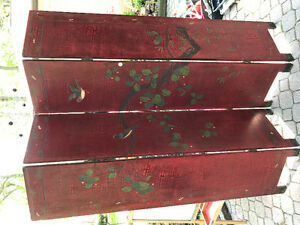 Antique Oriwntal Room Screen - Hand Carved / Painted Antique