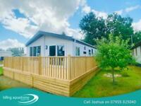 GORGEOUS RESIDENTIAL SPEC LODGE WITH FREE DECKING & 2 YEARS FEES 07955825040