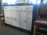 Distressed Wooden Sideboard