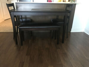 Selling IKEA table, with 2 chairs and bench $150.00