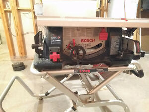 Bosch 4100 table saw with stand