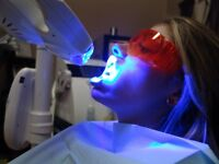 "Laser Teeth Whitening ""Special"" $90 go up 4 to 10 shades in 30 m"