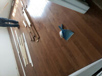 Laminate installation $0.69 we do all floors