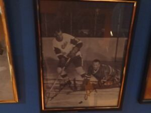 Johnny Bower Gordie Howe autographed photo