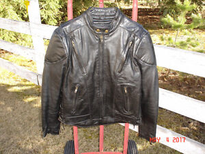 NEW MENS LEATHER MOTORCYCLE JACKET