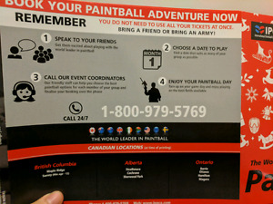 Paintball tickets (2 packs of 10) - IPG
