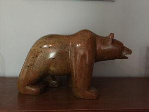 Howard Moose Bear Carving