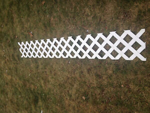 White LATTICE FENCING