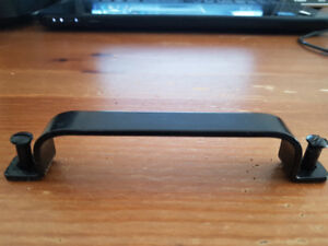 **30 BLACK SOLID IRON KITCHEN CUPBOARD HANDLES FROM IKEA**