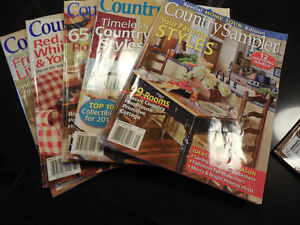 5 Country Sampler Magazines and 1 Create and Decorate