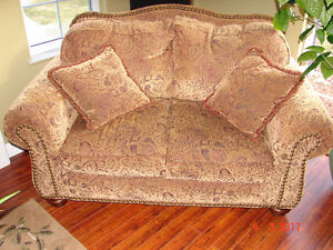 2 love seat couches and a chair for sale - Reduce for quick sale