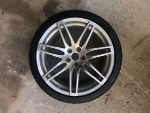 """Audi 19"""" rim with New tire"""