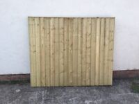 🌲HEAVY DUTY HIGH QUALITY TANALISED WOODEN CLOSE BOARD FEATHER EDGE FLAT TOP GARDEN FENCE PANELS