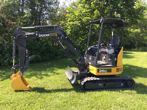 For Rent - Compact Excavator, Auger