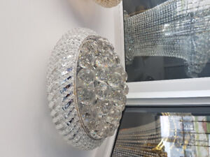 close to ceiling  crystal light