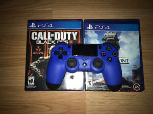 Blue controller and 3 games