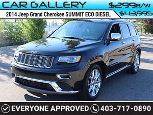 2014 Jeep Grand Cherokee SUMMIT ECO DIESEL w/PanoRoof, Leather,