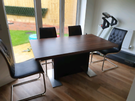 Extending Dining Table, Chairs and Sideboard