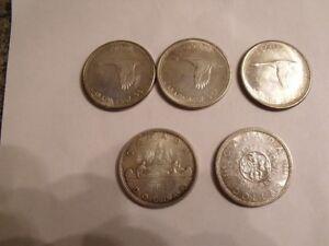 VIEILLE MONNAIE EN ARGENT $1.00