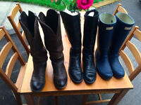 Leather Boots & Rain Boots