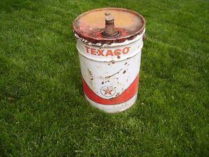 Vintage Metal Texaco Pail