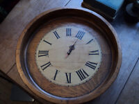 Antique Foundry Bowl - Re-purposed as Clock