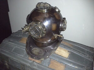 vintage Diving Helmet Mantle Piece