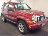 2006 Jeep Cherokee 2.8 TD Limited 4x4 5dr Diesel red Automatic