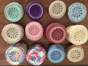 Crochet Coasters/Doilys .50 each Or take all for $35