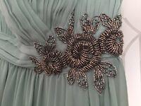 Wedding bridesmaid maxi sage green dress size 8