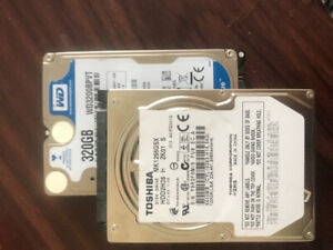 Two 2.5inch laptop hard drives