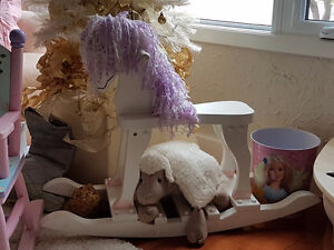Childrens-rocking horse,princess rocker,barbie waste basket,bike